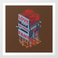 Love Without Action Is F… Art Print