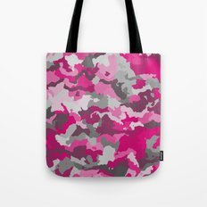 Pink and Gray camo 2 Tote Bag