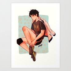 Akaashi is pretty Art Print