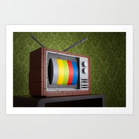57 Channels And Nothing … Art Print