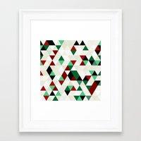 Christmas Geometric Framed Art Print