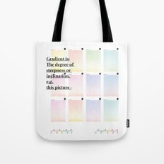 Gradient (English) Tote Bag