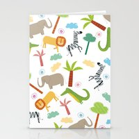 A HAPPY DAY  IN JUNGLE Stationery Cards