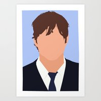 Ashton Kutcher Digital Portrait Art Print