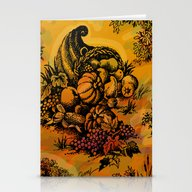 Harvest Time Toile Stationery Cards