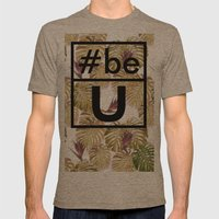 Be U Mens Fitted Tee Tri-Coffee SMALL