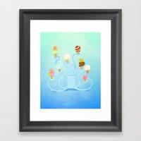 Ice Cream Power Framed Art Print