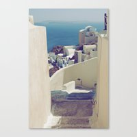 Santorini Stairs IV Canvas Print
