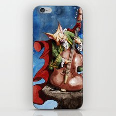 Feline counter bassist iPhone & iPod Skin