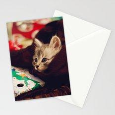 christmas kitten Stationery Cards