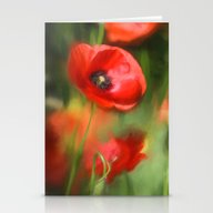 Warmth- Poppies In Love  Stationery Cards
