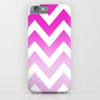 PINK CHEVRON FADE 2 iPhone 6 Slim Case