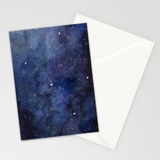 Night Sky Stars Galaxy | Watercolor Stationery Cards