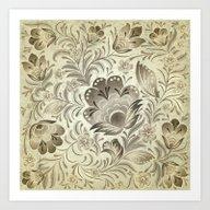Shabby Flowers #5 Art Print