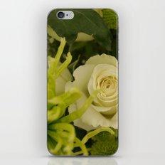 White and Green Arrangement iPhone & iPod Skin