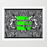 Neon Lights Art Print