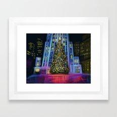 Christmas in Manhattan DP150902b Framed Art Print