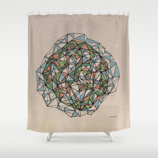 - blue orange green - Shower Curtain