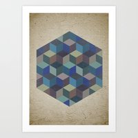 Dimension In Blue Art Print