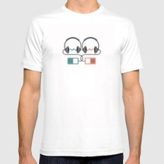 Headphones Pattern White Mens Fitted Tee SMALL
