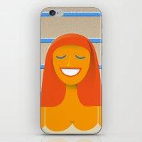 Carpet swimmer iPhone & iPod Skin