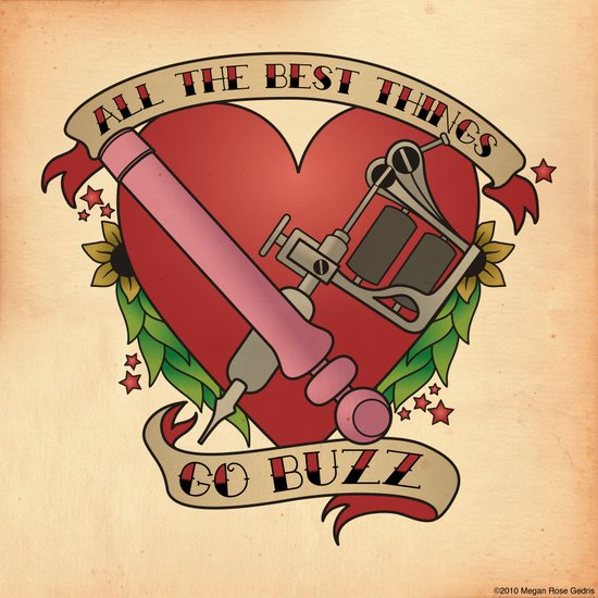 All the Best Things Go Buzz Art Print