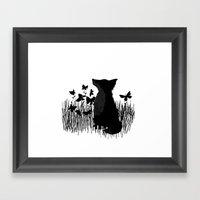 Little Fox In A Butterfl… Framed Art Print