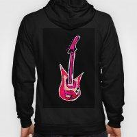 pink guitar Hoody