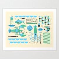 Seafood Art Print