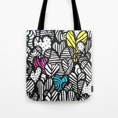 Graffiti Hearts Tote Bag