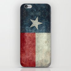 Texas state flag, Vertical retro vintage version  iPhone & iPod Skin