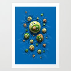 Emoticontagious Art Print