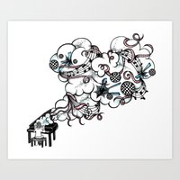 Piano Music Art Print