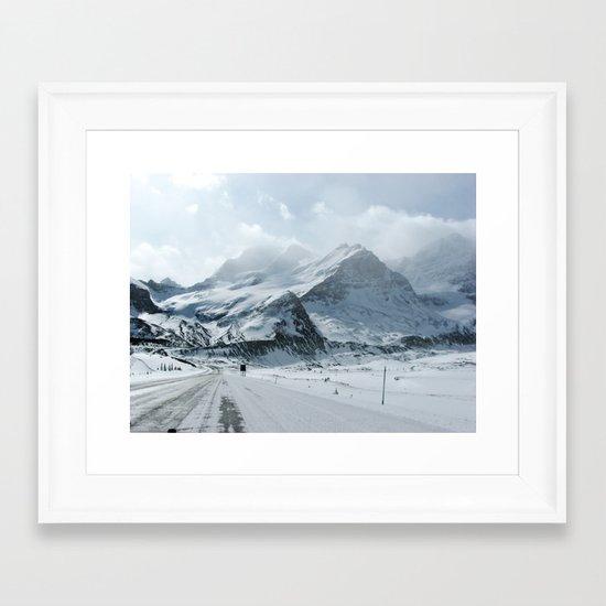 Icefield Framed Art Print