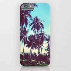 Road of palm trees iPhone 6 Slim Case