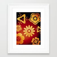 Mi Flor Framed Art Print