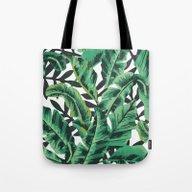 Tropical Glam Banana Lea… Tote Bag