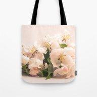 White Flowers, Spring Ph… Tote Bag