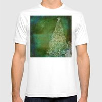 Christmas Tree On Forest… Mens Fitted Tee White SMALL