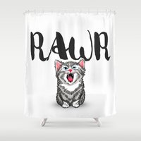Little Pal, Big Roar Shower Curtain