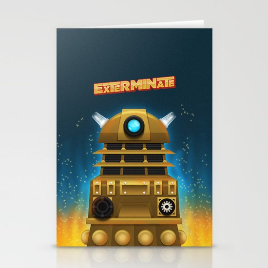 EXTERMINATE Stationery Card