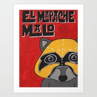 EL Mapache Malo Art Print