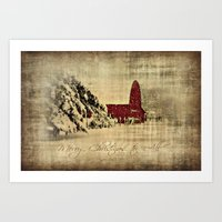 Merry Christmas And Happ… Art Print