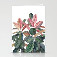 Rubber Plant Stationery Cards