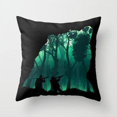 Revenge of the Wild Throw Pillow