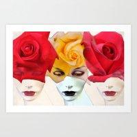 Faces 20 Art Print