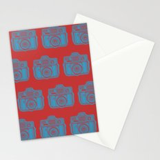 I Still Shoot Film Holga Logo - Red & Blue Stationery Cards