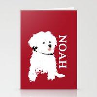 Bichon Frise Dog art Stationery Cards