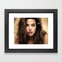 Angelina Jolie Hair Framed Art Print