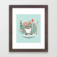 Easily Distracted Framed Art Print